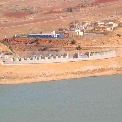 Clapets du barrage du Ghrib en Algérie