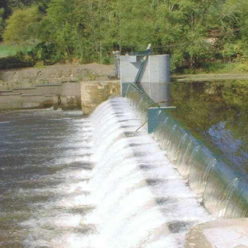 Clapet de barrage sur la Vézère